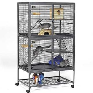 Midwest Critter Nation Double Unit with Stand Small Animal Cage   Rat