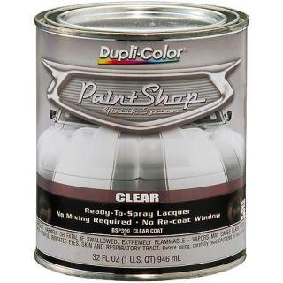 paint shop finish system clear top coat gloss clear 32 oz quart. Black Bedroom Furniture Sets. Home Design Ideas