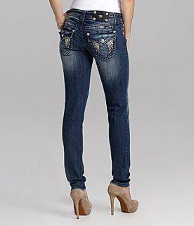 Miss Me Jeans Wing Embellished Skinny Jeans  Dillards