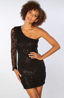 LA Boutique The One Shoulder Sequin Dress in Black  Karmaloop