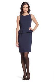 Peplum jurk Dama van een viscosemix door BOSS Black