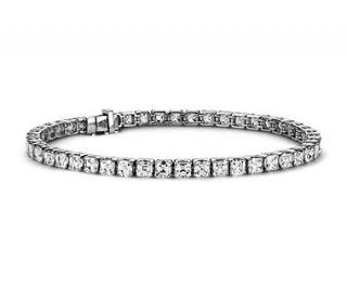 Asscher Diamond Tennis Bracelet in Platinum (9.50 ct. tw.)  Blue Nile