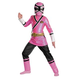 Power Rangers Pink Samurai Ranger Deluxe Girls Costume   Size Medium