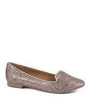 null (Multi Col) Silver Multicoloured Glitter Slipper Shoes