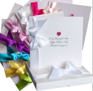 swarovski heart mothers day card & box by made with love designs ltd