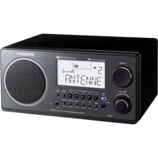 Sangean Table Top AM/FM Radio Receiver WR2 BLACK in Table AM/FM Radios