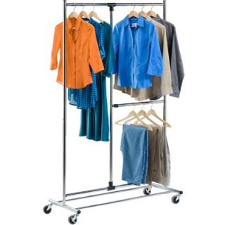 Honey Can Do Dual Bar Chrome Adjustable Garment Rack  Meijer