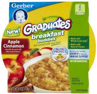 Gerber Graduates Breakfast Buddies   Apple Cinnamon   8 pk