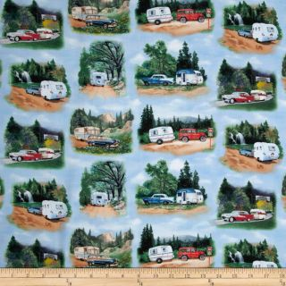 Vintage Trailers   Discount Designer Fabric   Fabric