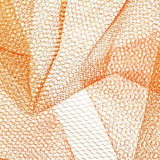 Nylon Net Orange   Discount Designer Fabric   Fabric