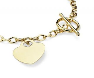 Petite Toggle Heart Tag Bracelet in 14k Yellow Gold  Blue Nile