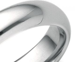 Domed Comfort Fit Wedding Ring in 18k White Gold (5mm)  Blue Nile