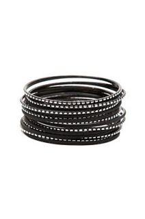 Black Silver Bangle Bracelet 18 Pack   166933