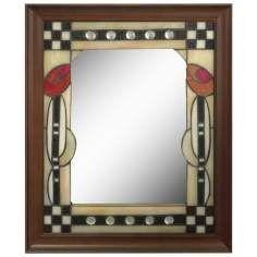 Dale Tiffany Tulip 24 High Art Glass Wall Mirror