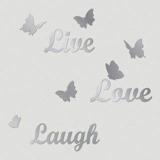 Live, Love, Laugh Mirror Wall Decal  World Market