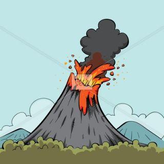 Cartoon Volcano Stock Illustration   Veer