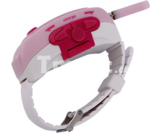 Multi channels Wrist Watch Style Two way Radio Walkie Talkie Pink
