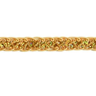 Sequin Braid Cord Trim Gold   Discount Designer Fabric   Fabric