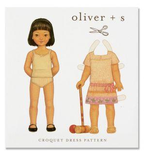 Oliver + S Croquet Dress Pattern Size 6M 4T   Discount Designer Fabric