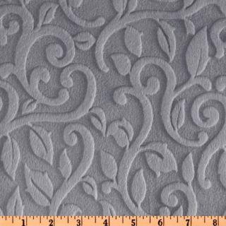 Minky Vine Cuddle Plata   Discount Designer Fabric   Fabric