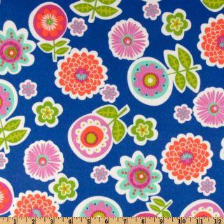 Greenhouse Flannel Backyard Royal   Discount Designer Fabric   Fabric