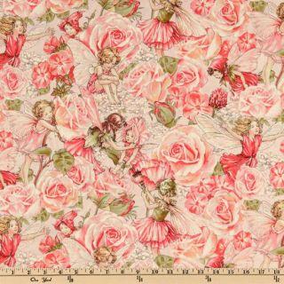 Michael Miller Sweet Flower Fairies Sweet Garden Rose   Discount