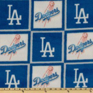 MLB Fleece Los Angeles Dodgers Blue/White   Discount Designer Fabric