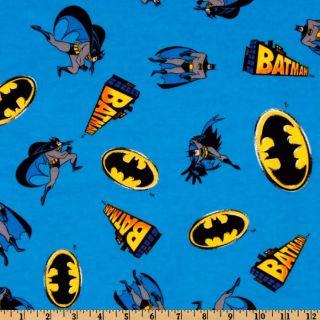 Batman Flannel Blue   Discount Designer Fabric   Fabric