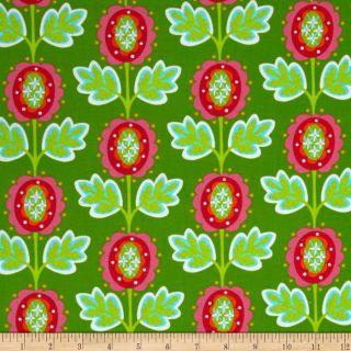 Garden Party Peony Green   Discount Designer Fabric   Fabric