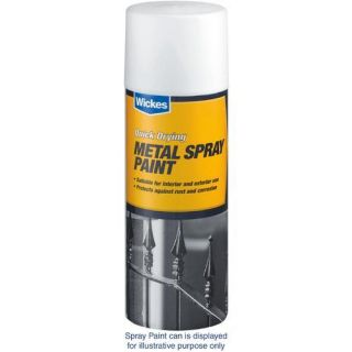 Matt Metal Spray Paint Black 400ml   Spray Paint   Paint  Decorating