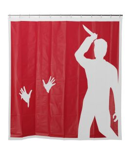 PSYCHO SHOWER CURTAIN  Psycho Shower Scene Stabbing Curtain