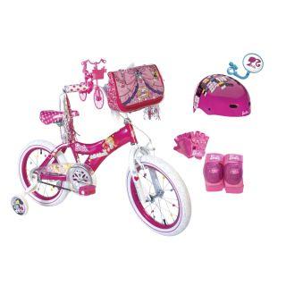 Barbie 16 Bling It Girls Bike, Helmet & Protective Gear Bundle