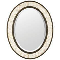Uttermost Terelle Antique Gold 39 High Oval Wall Mirror