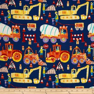 Play Date Construction Navy   Discount Designer Fabric   Fabric