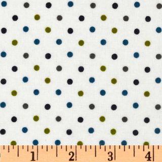 Cozy Cotton Flannel Mini Dot Marine   Discount Designer Fabric