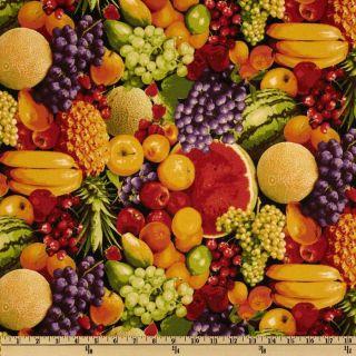 Farmers Market Mixed Fruit Multi   Discount Designer Fabric   Fabric