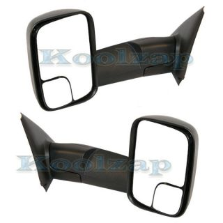 02 09 Dodge Ram Pickup Truck Manual Folding Towing Side View Mirrors