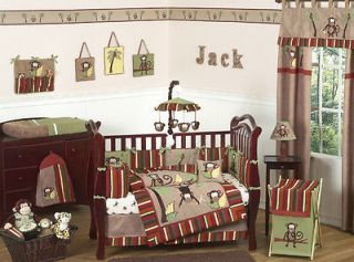 CHEAP MONKEY ANIMAL JUNGLE SAFARI BABY BOY CRIB BEDDING SET JOJO ROOM