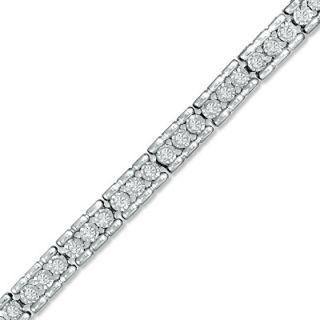 CT. T.W. Diamond Tennis Bracelet in Sterling Silver   Bracelets