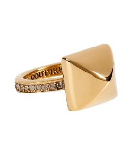 Juicy Couture Gold Toned Pyramid Ring  Damen  Schmuck