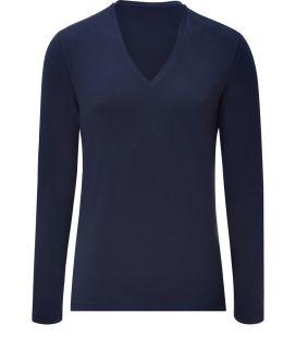 Hugo Open Blue V Neck T Shirt  Herren  T Shirts