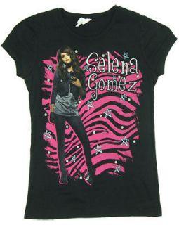 Zebra Print   Selena Gomez Girls T shirt