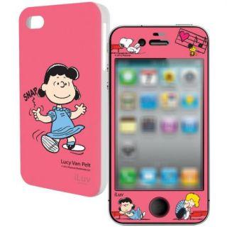 iLuv Kit de Snoopy color Rosa · Protector + Carcasa para iPhone 4 y