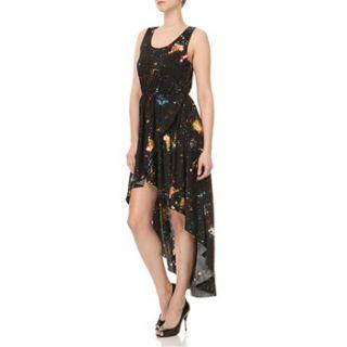 AX Paris Black/Multi Galaxy Print Midi Dress