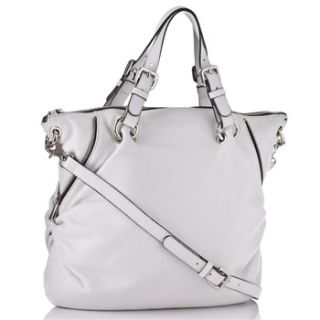 Coccinelle White Leather Tote Bag with Zip Details