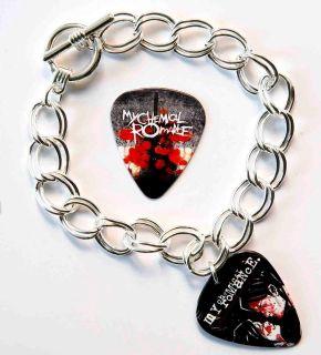 My Chemical Romance Two Sided Guitar Pick Bracelet Plus Plectrum