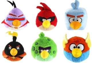 Angry Birds Space Birds with Sound Stuffed Plush Toy Animal Gift Set