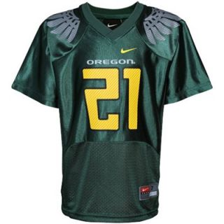 Nike Oregon Ducks #21 Preschool Replica Football Jersey   Green