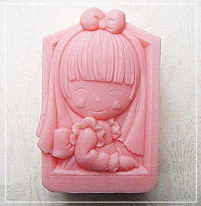 1pc Hope Girl Silicone Soap mold Craft Molds DIY Handmade soap 50442