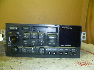 98 01 Chevy Blazer Jimmy Camaro Radio Cassette Player 16232121 OEM *